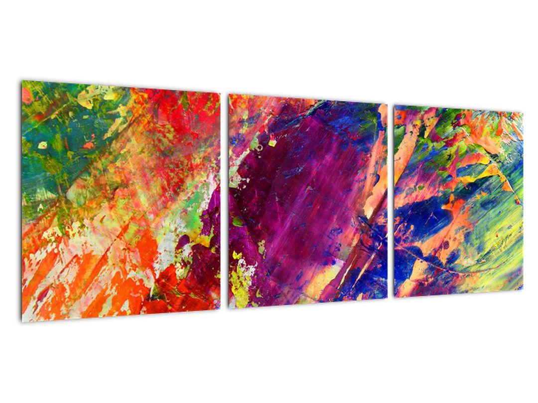 Farebný abstraktný obraz