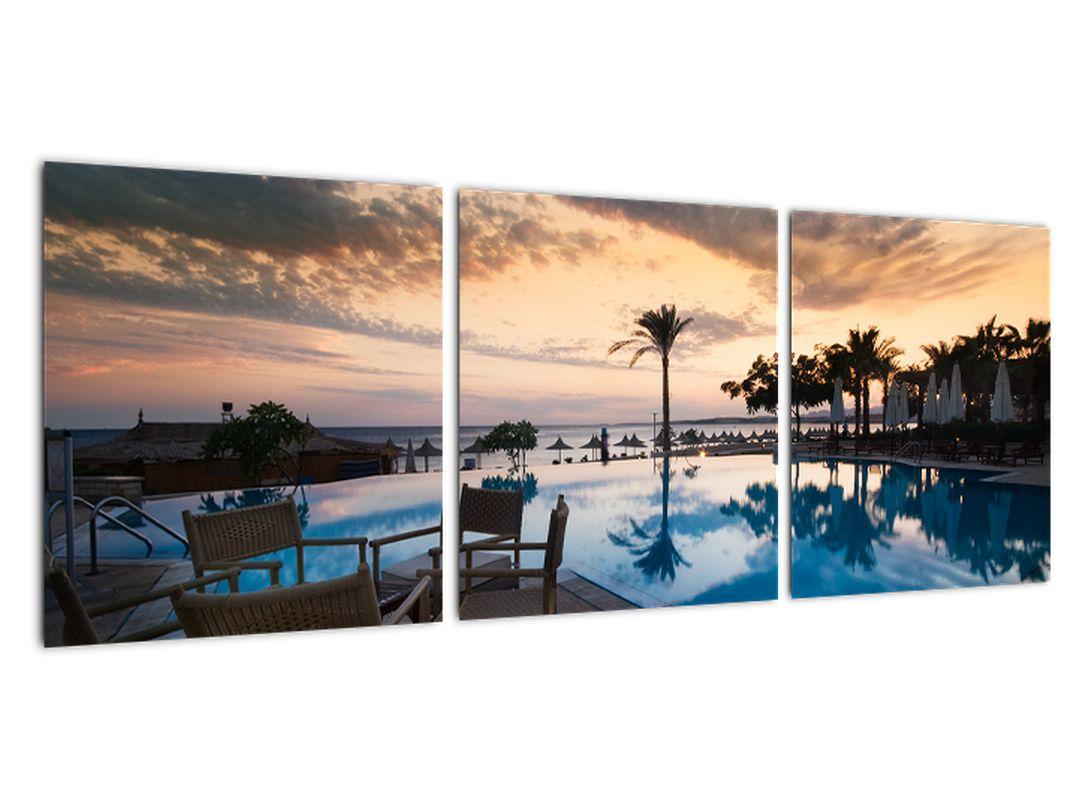 Obraz bazéna v Stredozemí