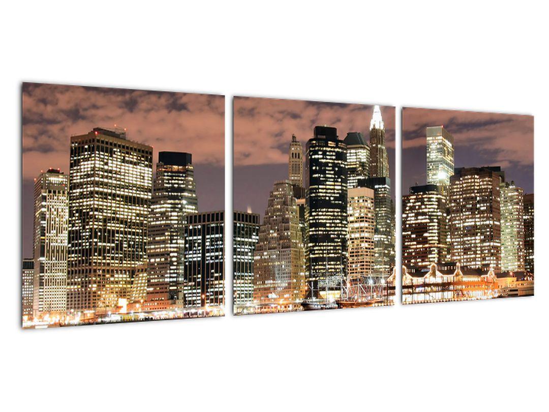 Obraz nočného mesta