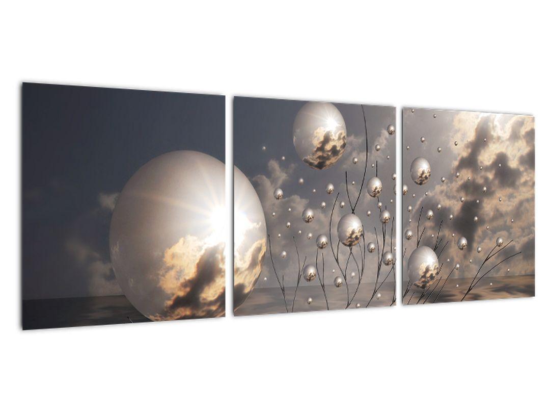 Abstraktné obraz - šedej gule