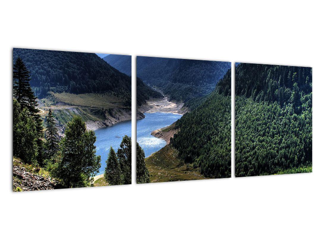 Obraz rieky medzi horami