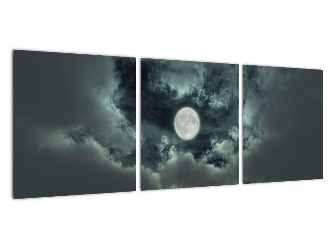 Obraz mesiace a mrakov