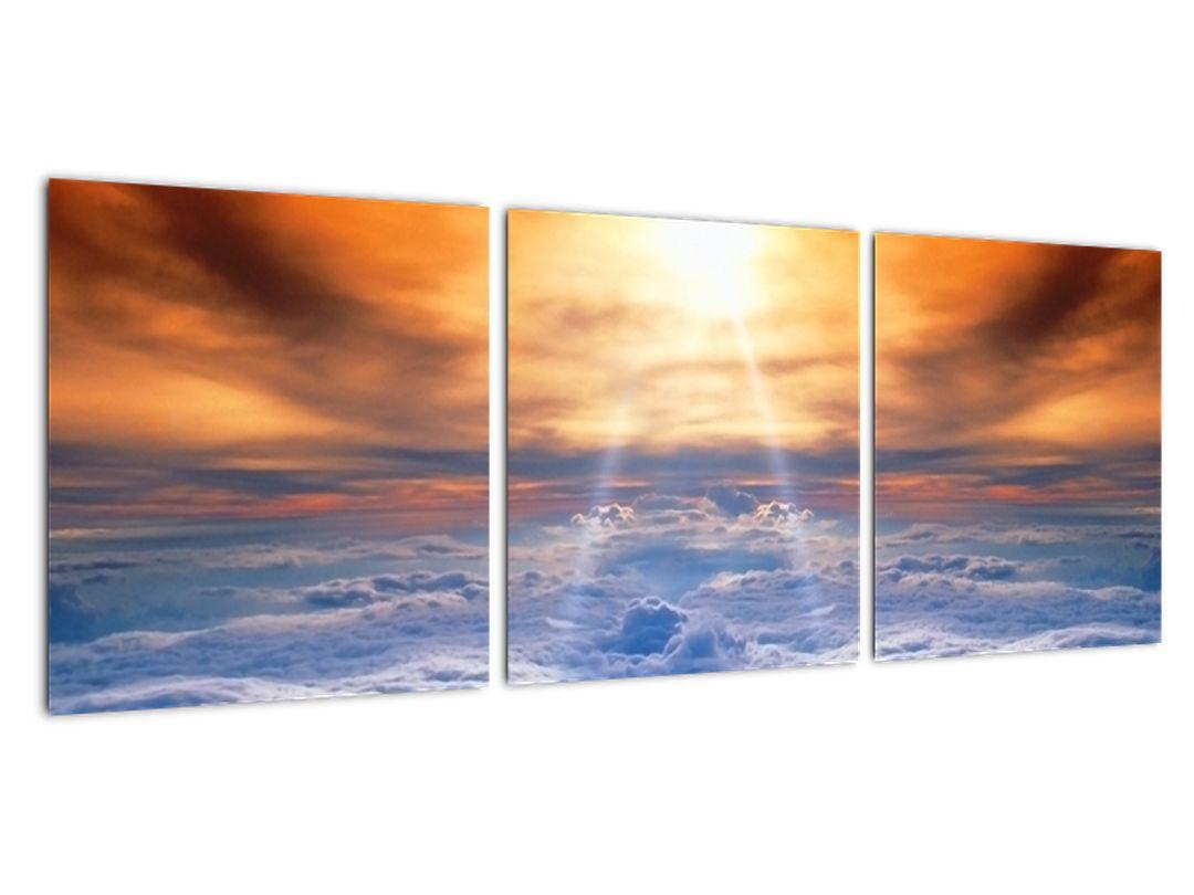 Moderný obraz - slnko nad oblaky