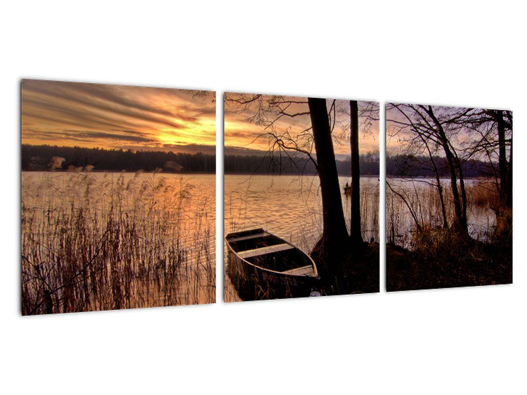 Obraz lodičky na jazere