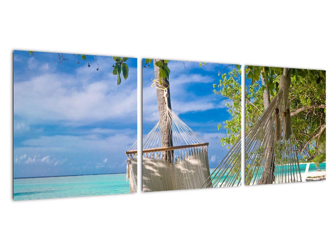 Obraz ležadla na pláži