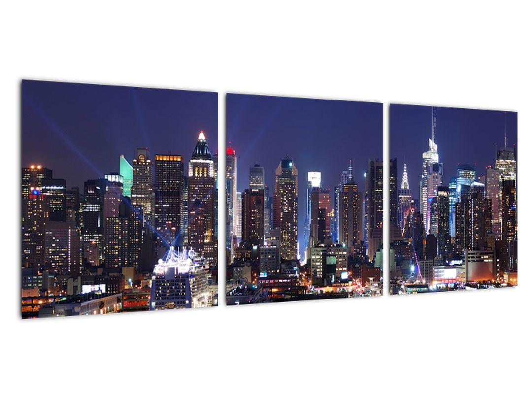 Obraz mesta - nočná žiara mesta