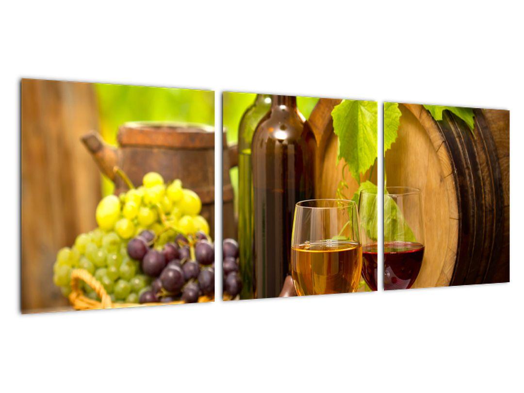 Obraz do kuchyne - víno