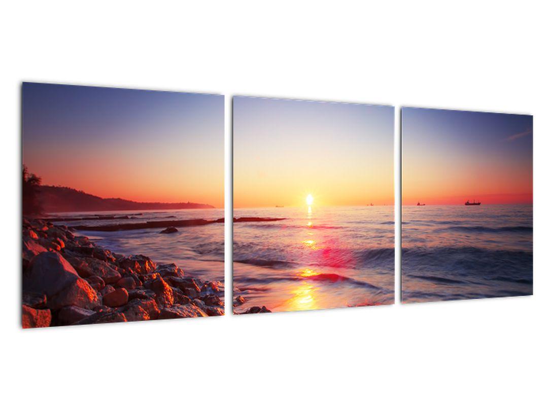 Moderný obraz - západ slnka nad morom