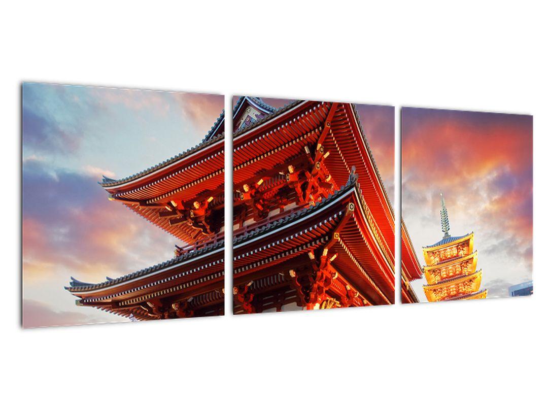 Obraz chrámu v Japonsku