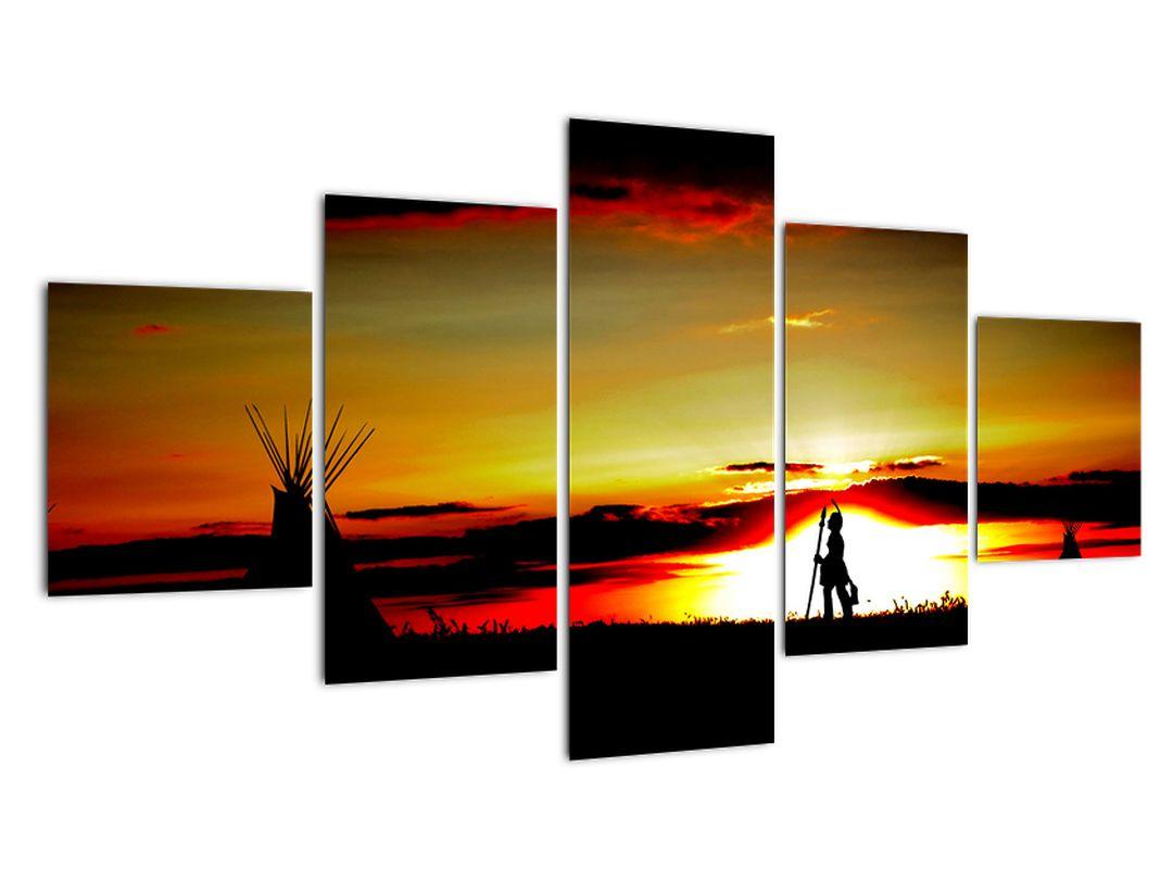 Obraz západu slnka