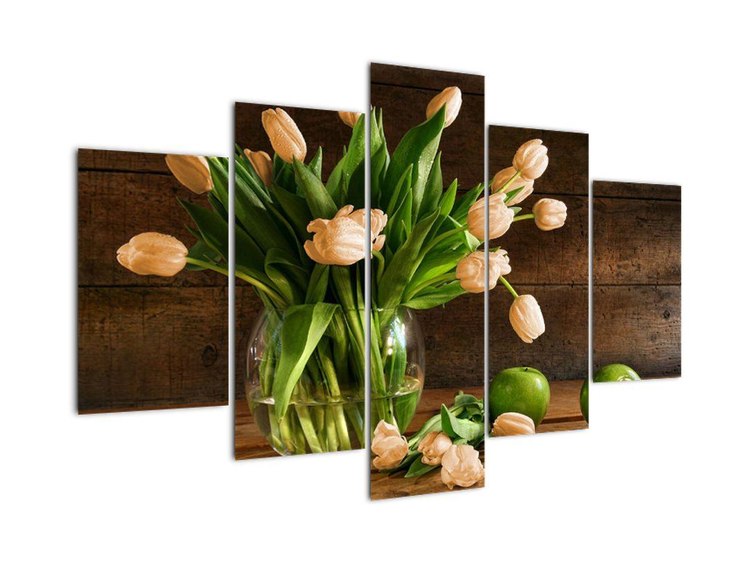 Tulipány vo váze, moderné obraz