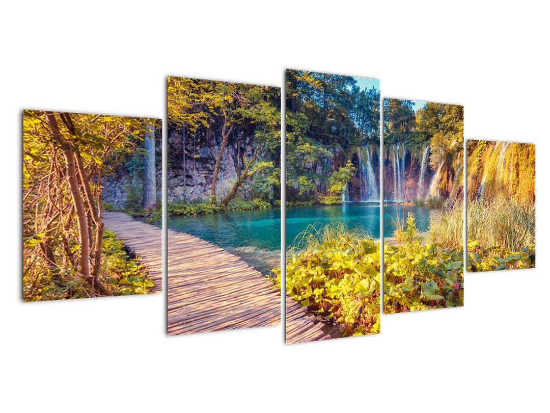 Vodopády v prírode - obraz