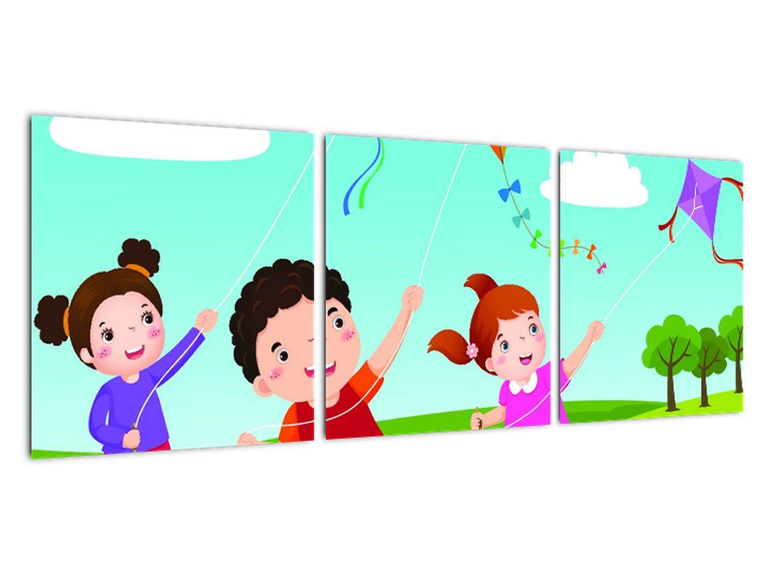 Deti na lúke - obraz na stenu