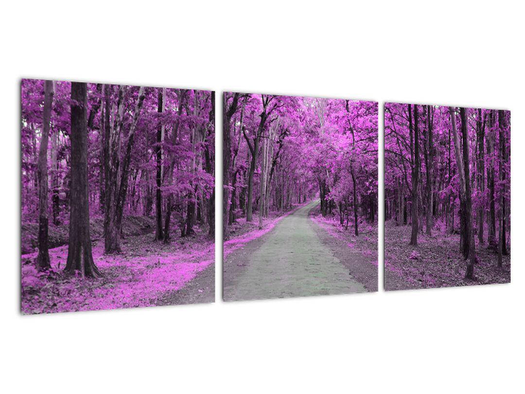 Moderný obraz - fialový les
