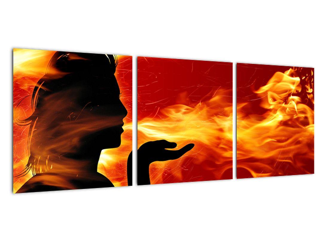 Obraz - žena v ohni
