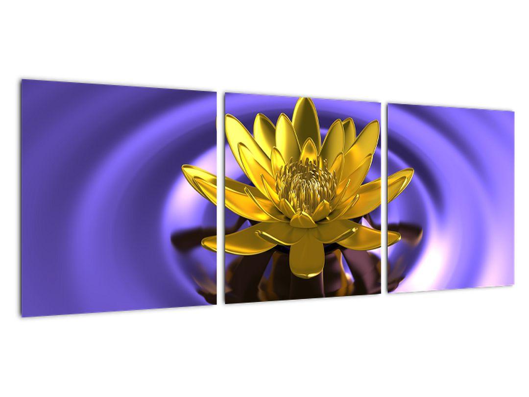 Obraz kvetu vo vode