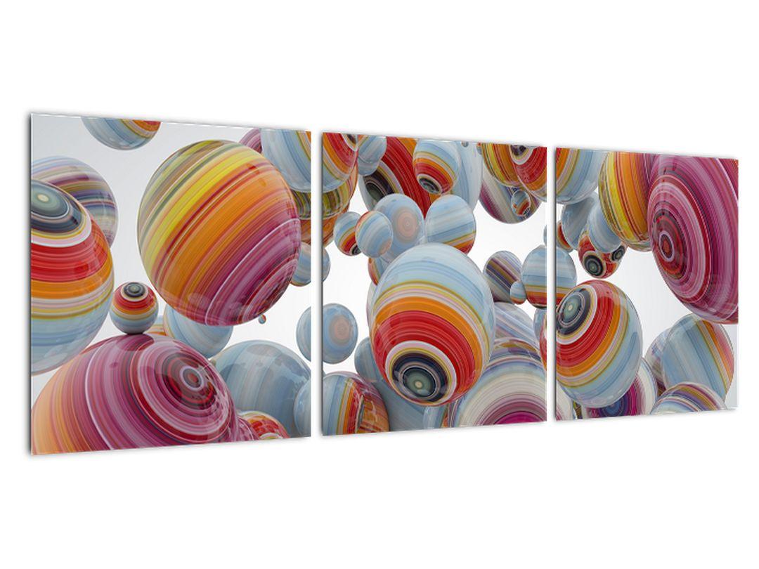 Abstraktný obraz farebných gulí