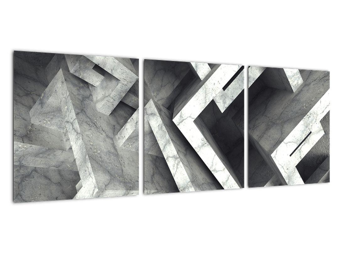 Abstraktný čiernobiely obraz