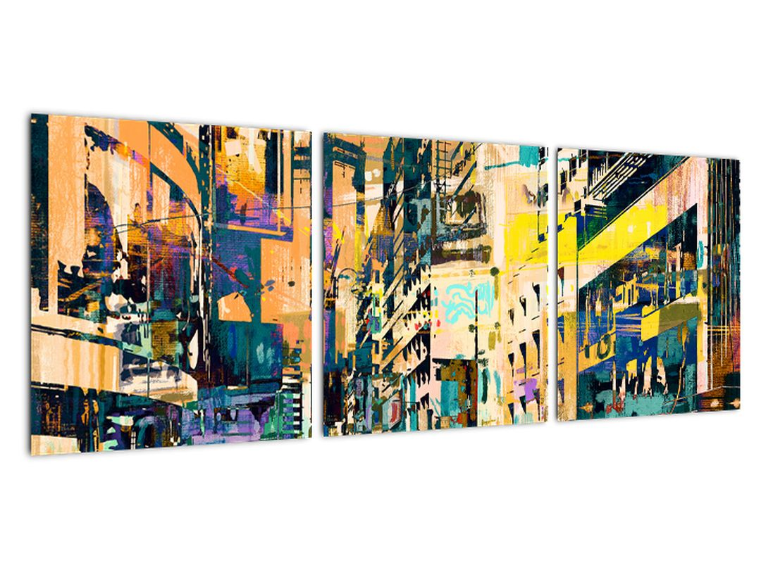 Moderný abstraktný obraz