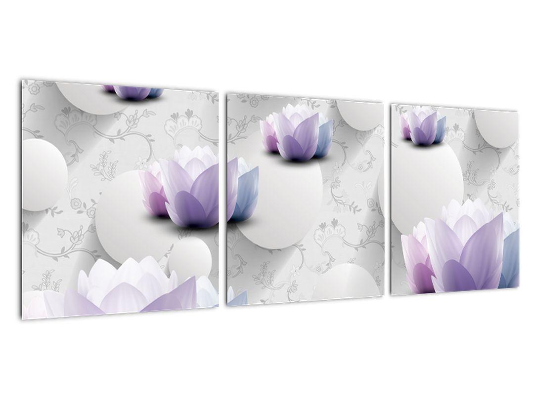 Abstraktný obraz kvetov
