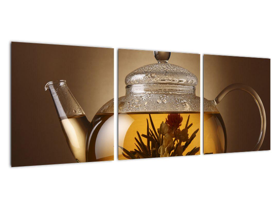 Obraz kanvica s čajom