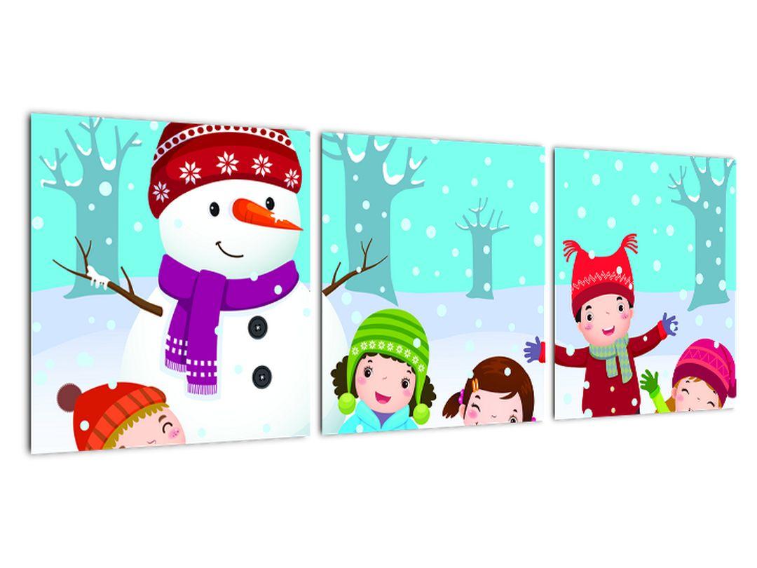 Obraz detí na snehu
