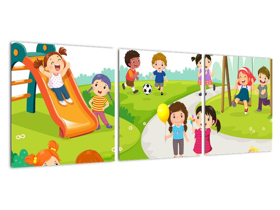 Detský obraz - deti na ihrisku