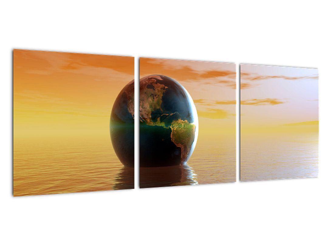 Obraz zemegule v mori