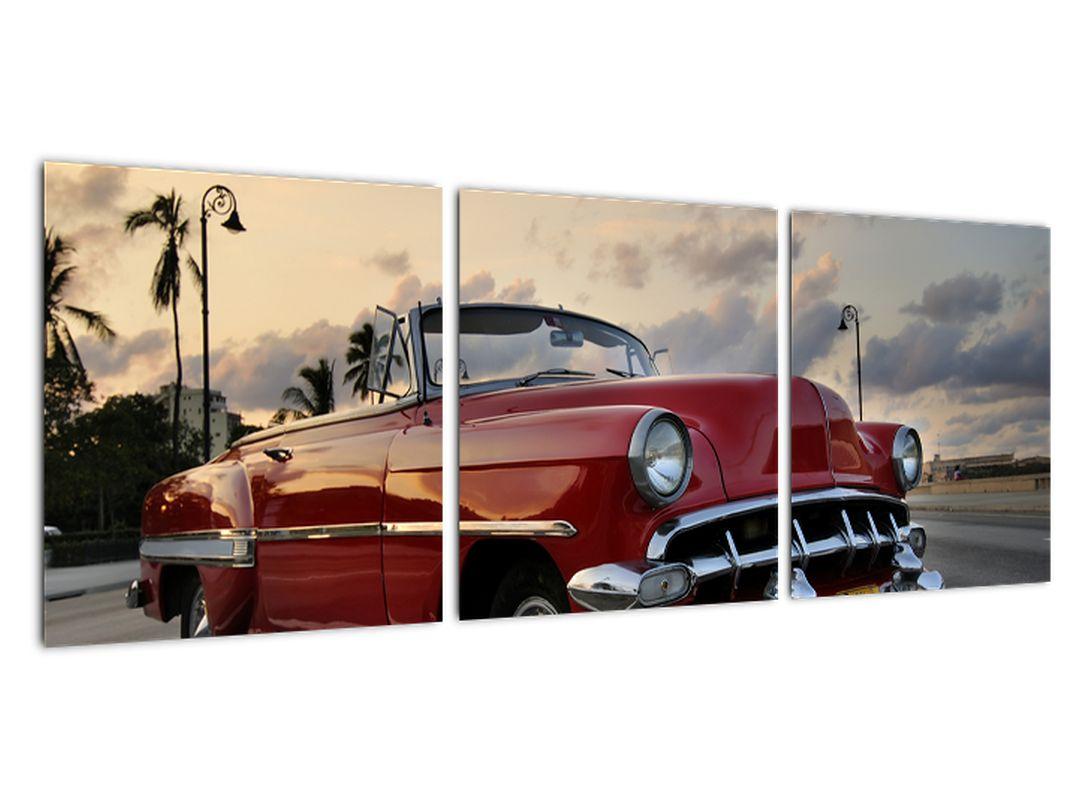 Obraz červeného auta