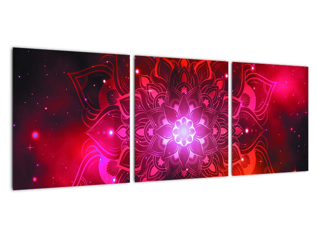 Obraz - červená mandala