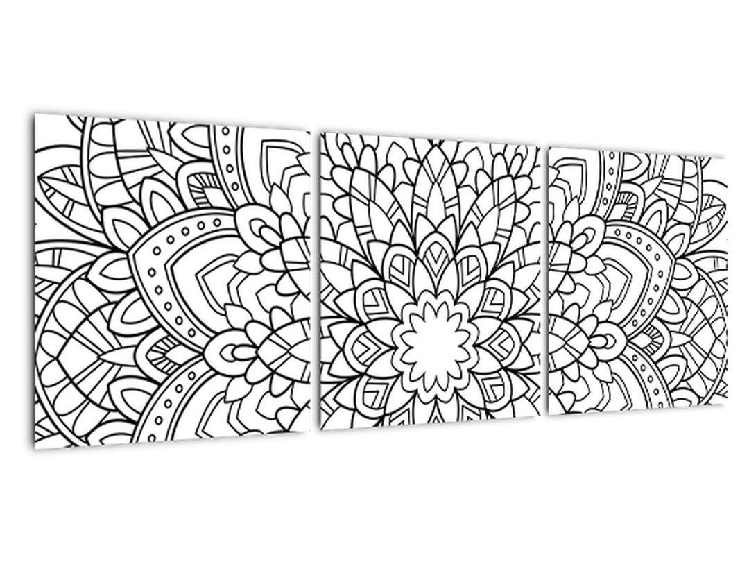Obraz - čiernobiela mandala