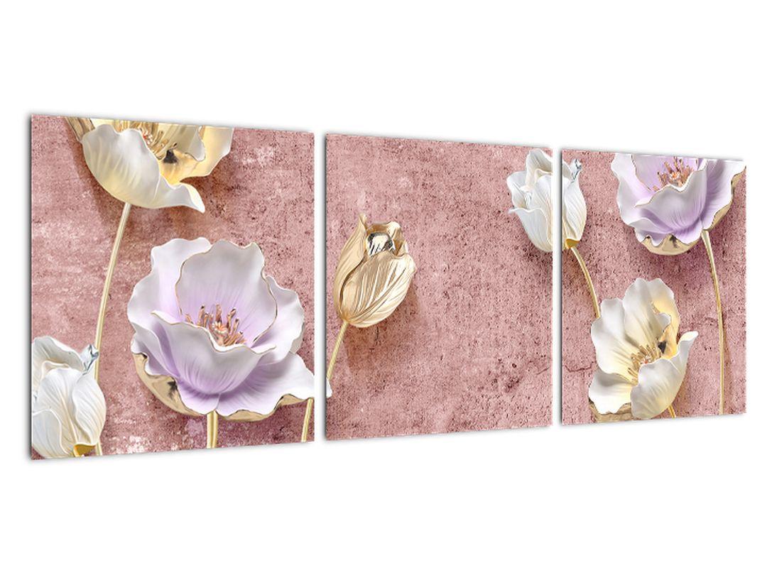 Obraz zlatých tulipánov