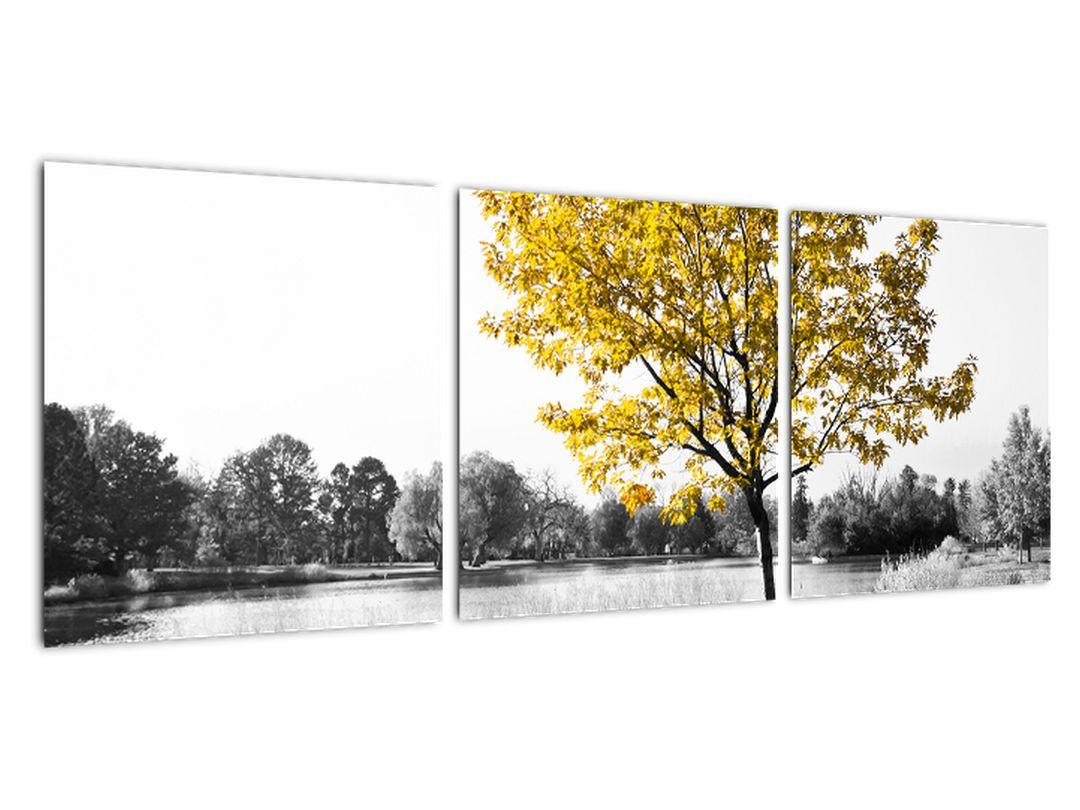 Obraz žltého stromu v prírode