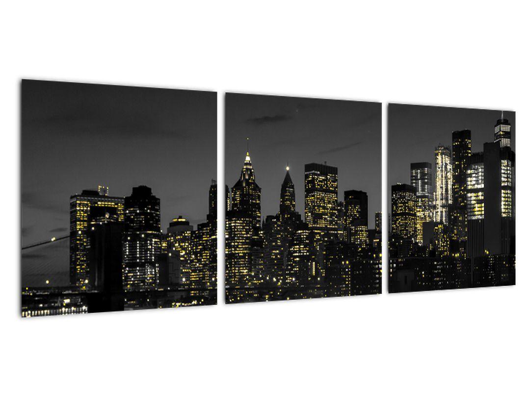 Obraz večerného mesta