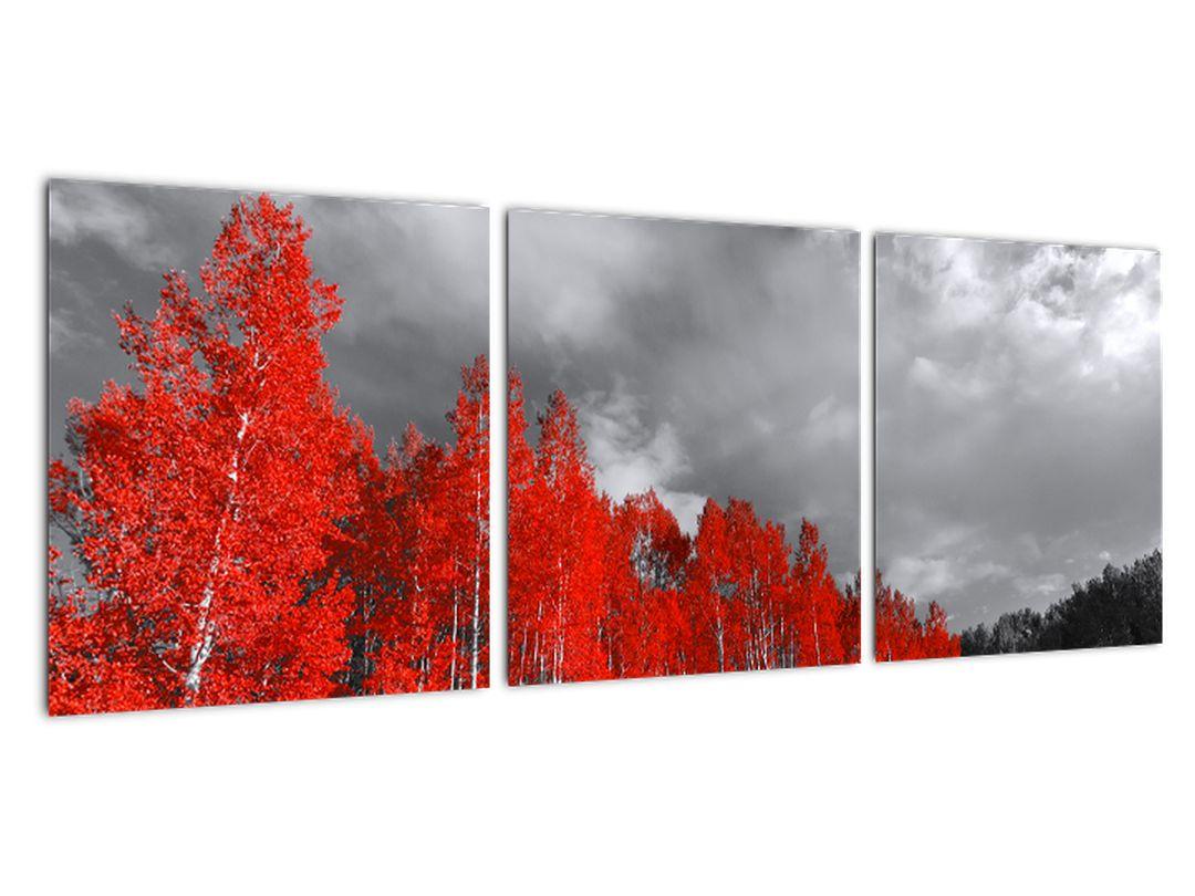 Červený les - moderný obraz