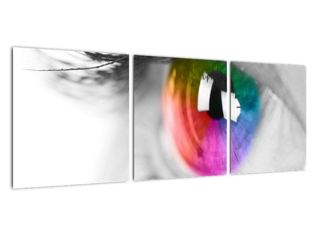 Moderný obraz: farebné oko