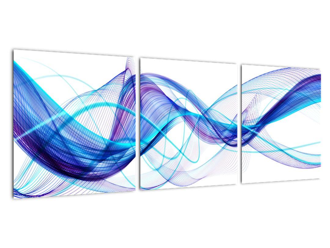 Obraz: abstraktné modrá vlna