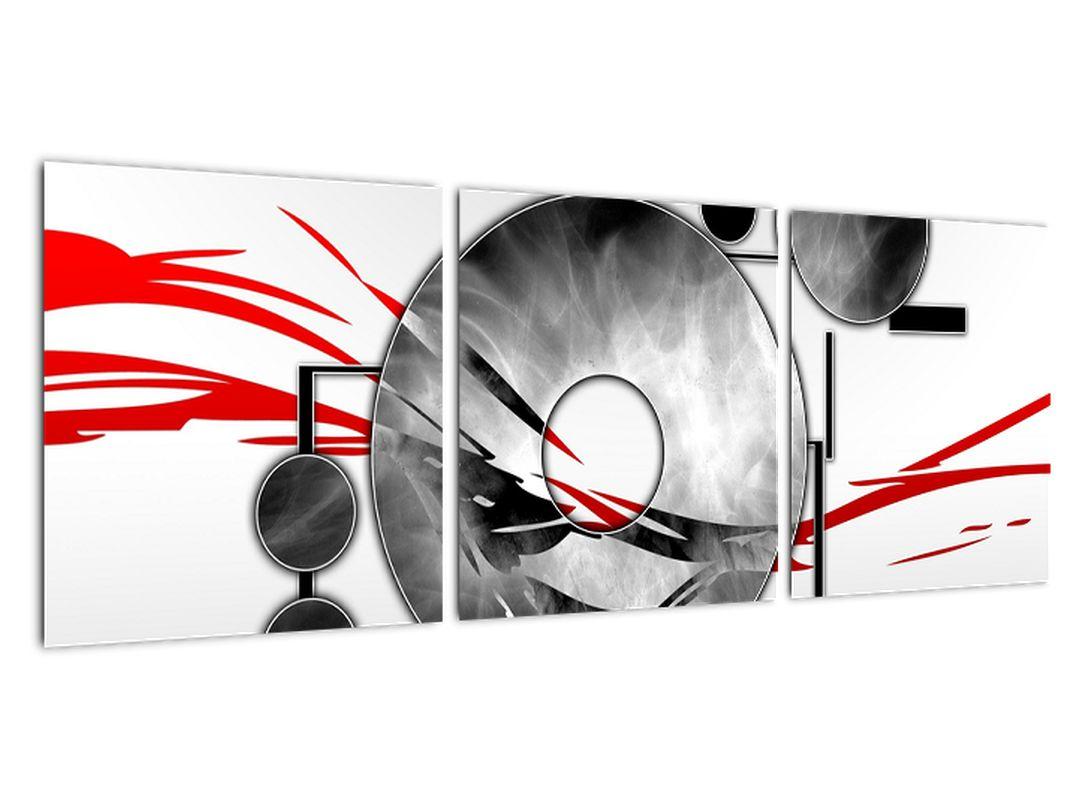 Abstraktný obraz: červené vlny