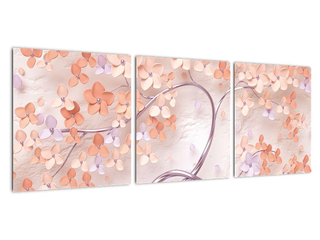 Moderný obraz - kvitnúce strom