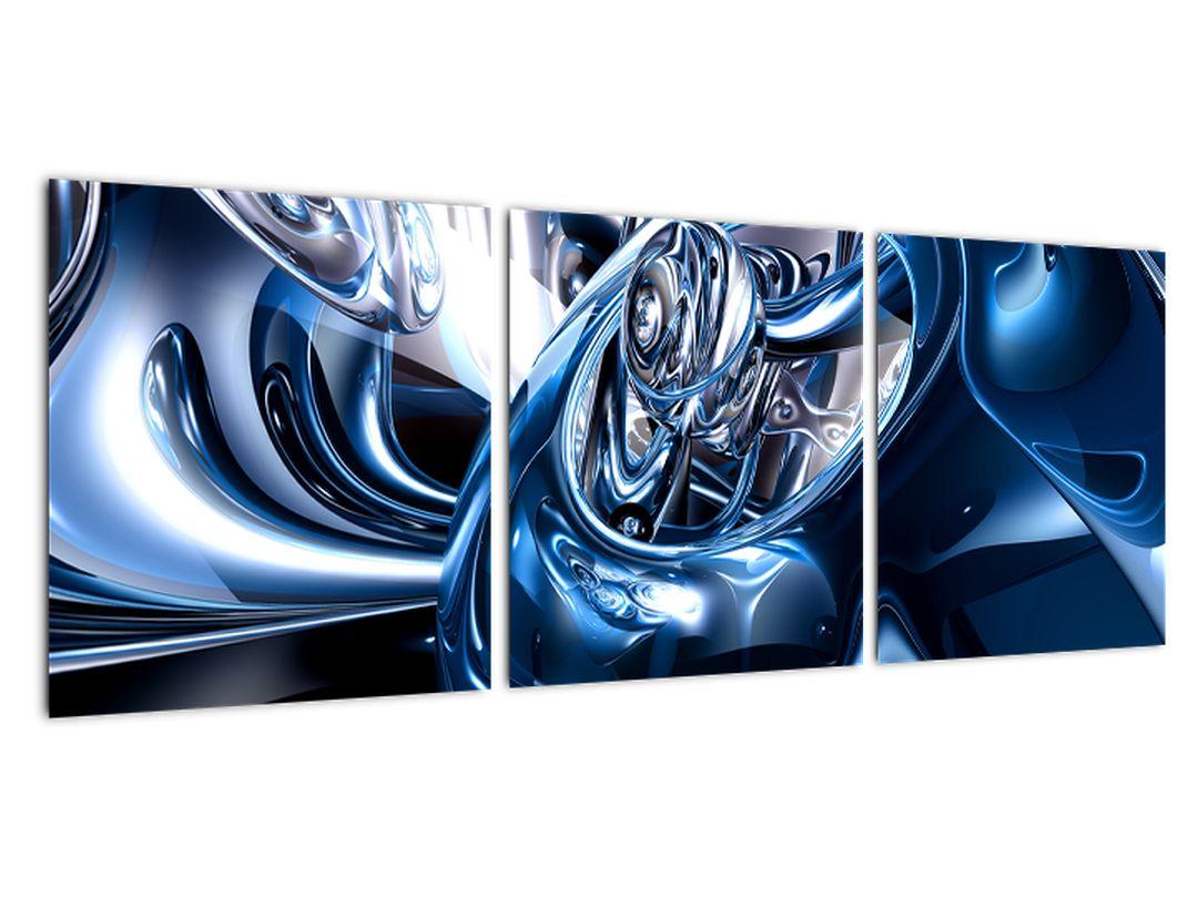 Modrý abstraktný obraz