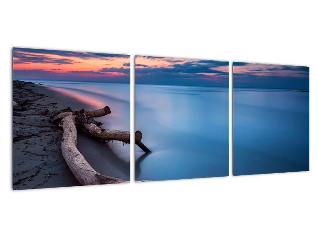 Obraz - večer pri jazere