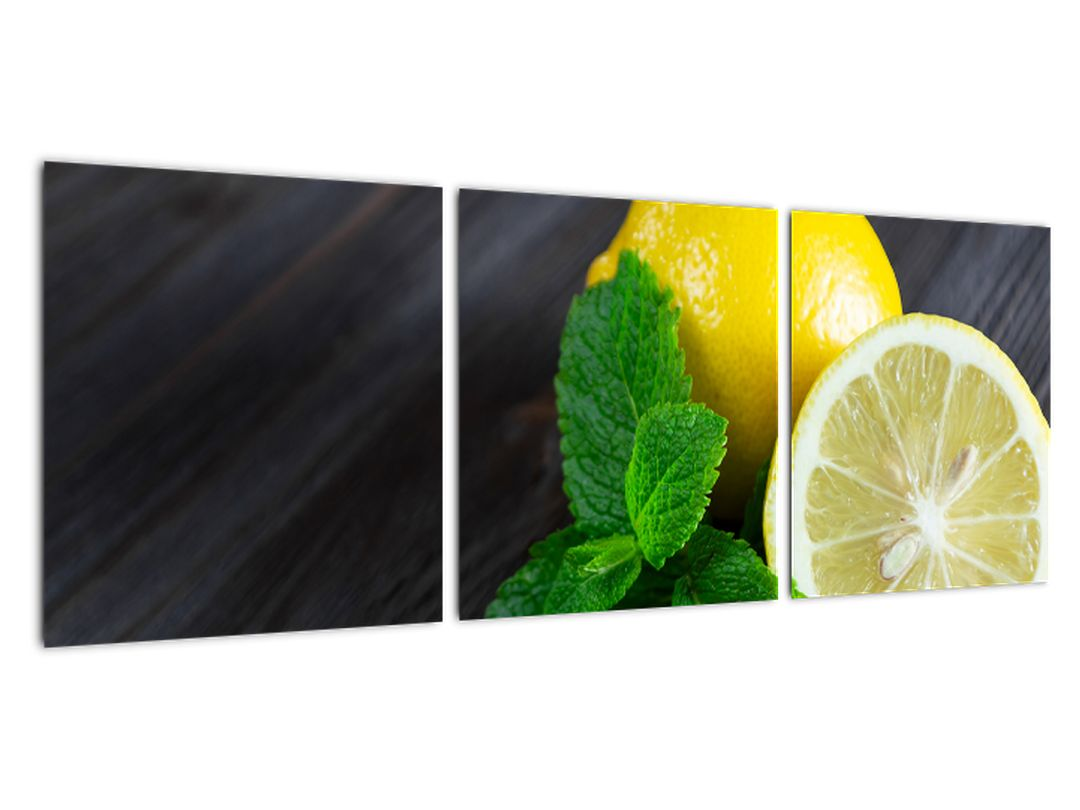 Obraz citrónu na stole