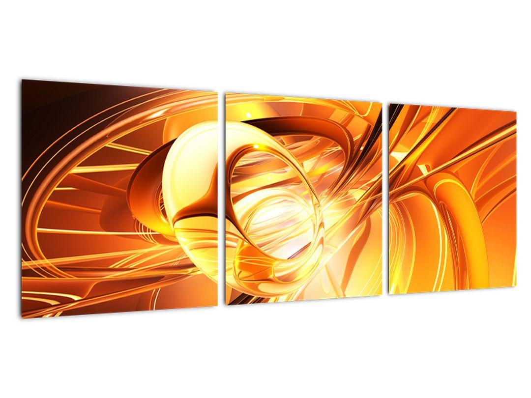 Oranžový abstraktný obraz