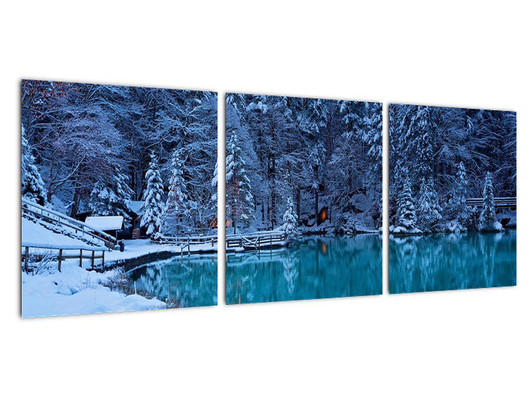 Obraz zimného jazera