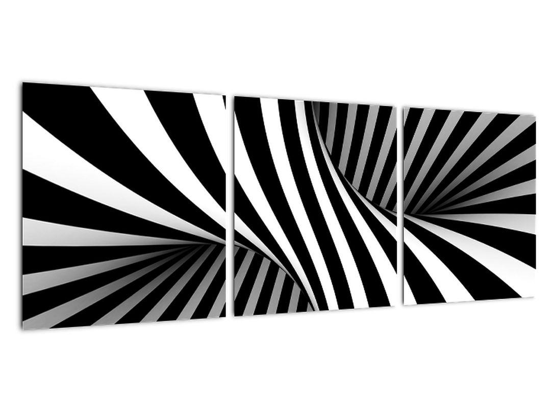 Čiernobiely abstraktný obraz