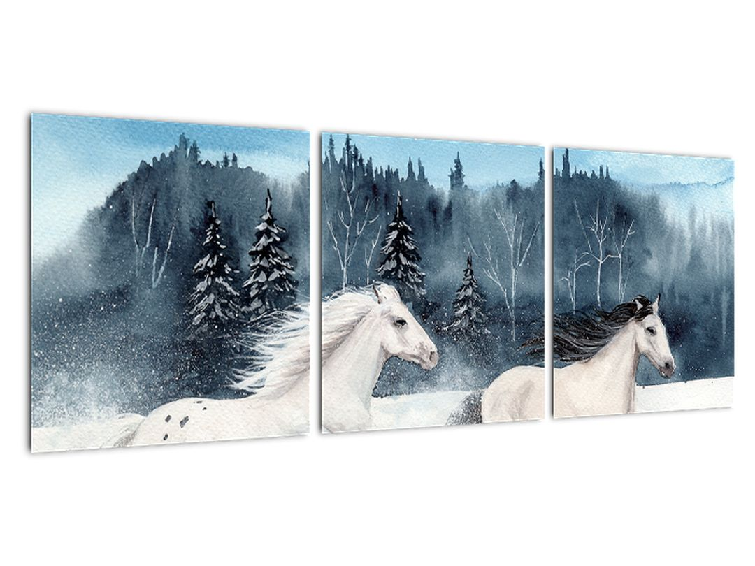 Obraz bežiacich koní