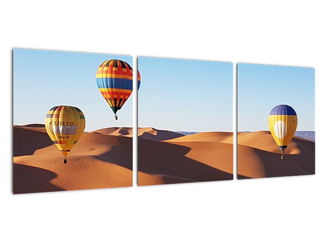 Obraz - teplovzdušné balóny v púšti