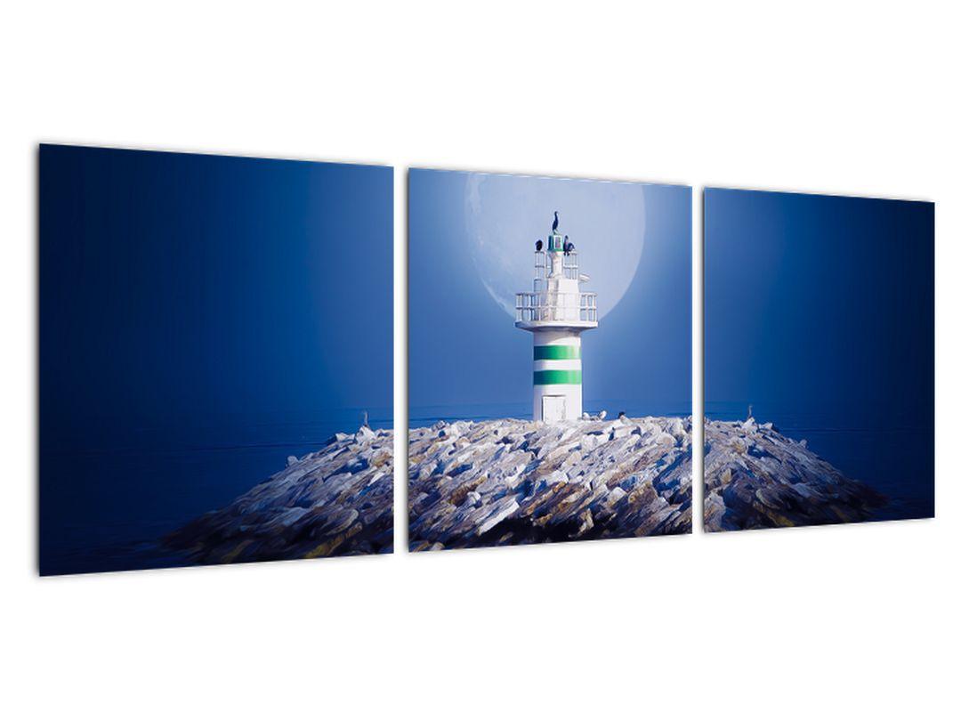 Maják na mori - obraz