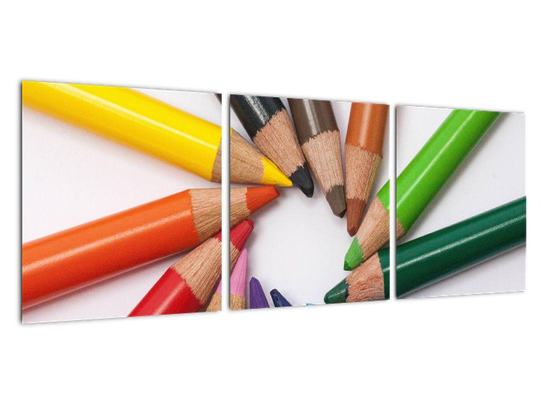 Obraz - farebný kruh z pasteliek