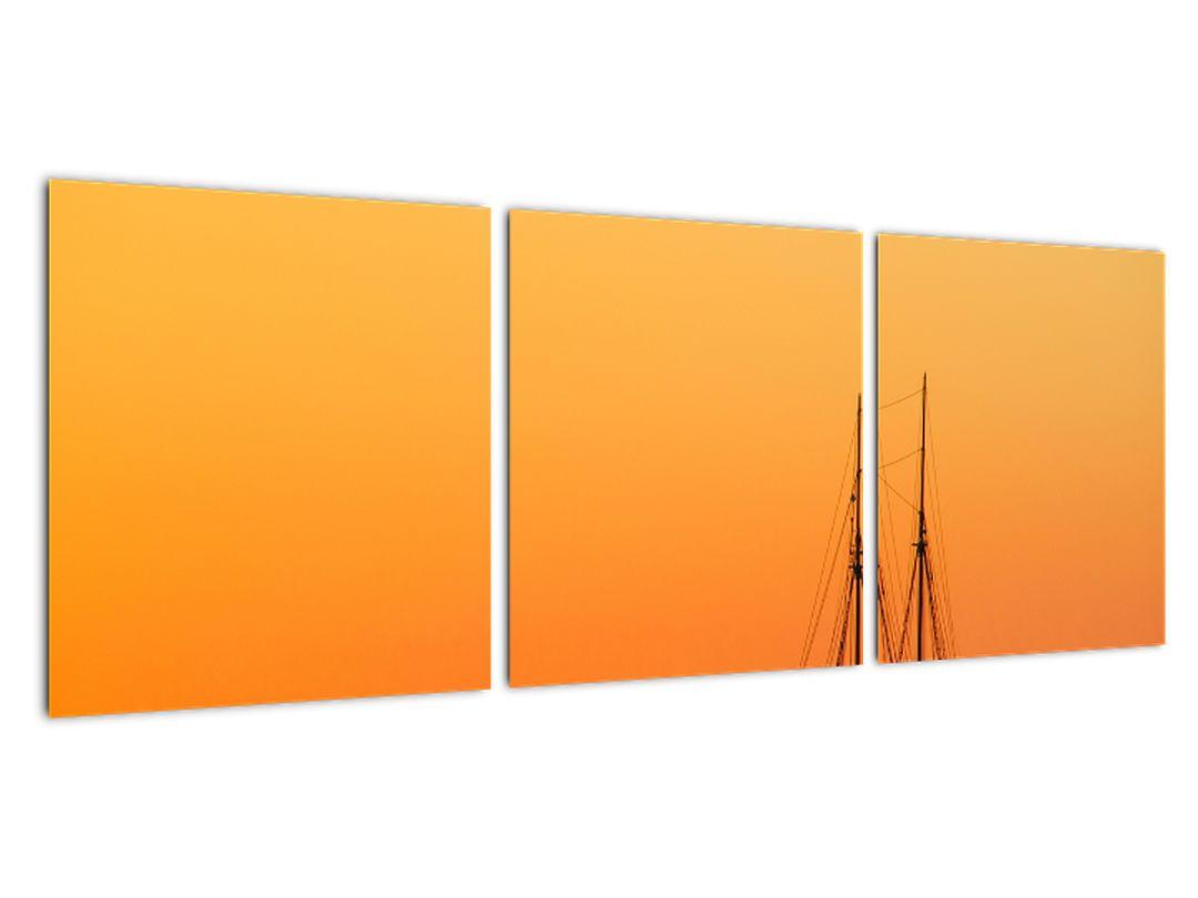 Plachetnica na mori - moderný obraz